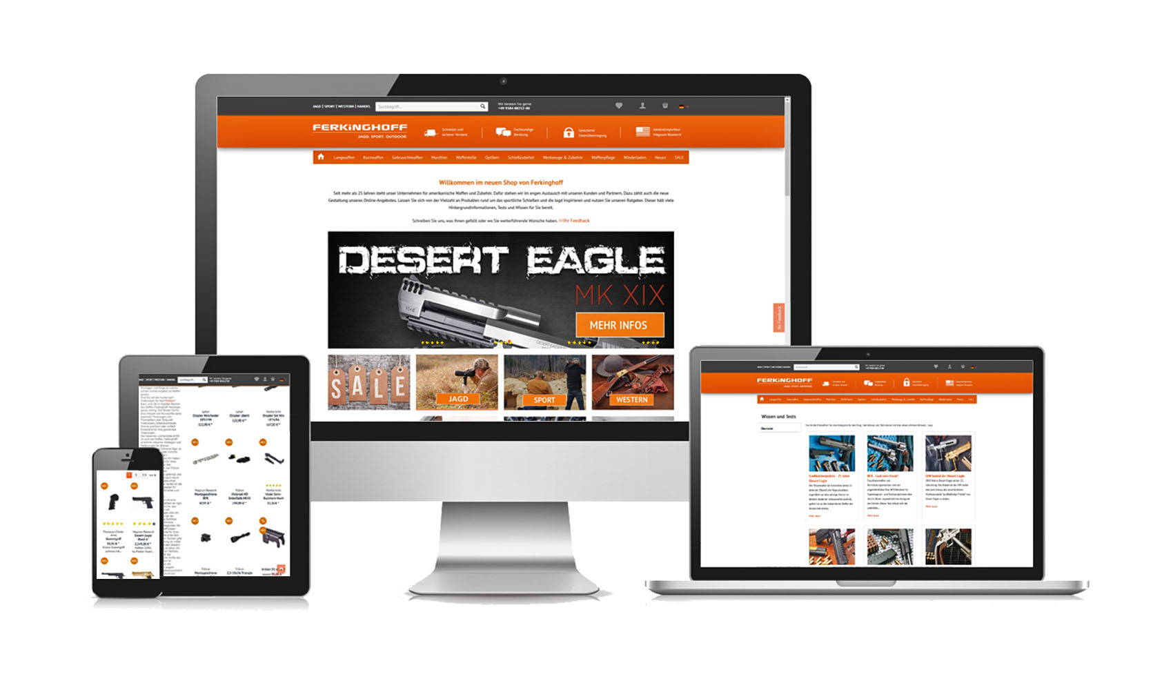 Waffen ferkinghoff launches the new online shop for New online shoping site