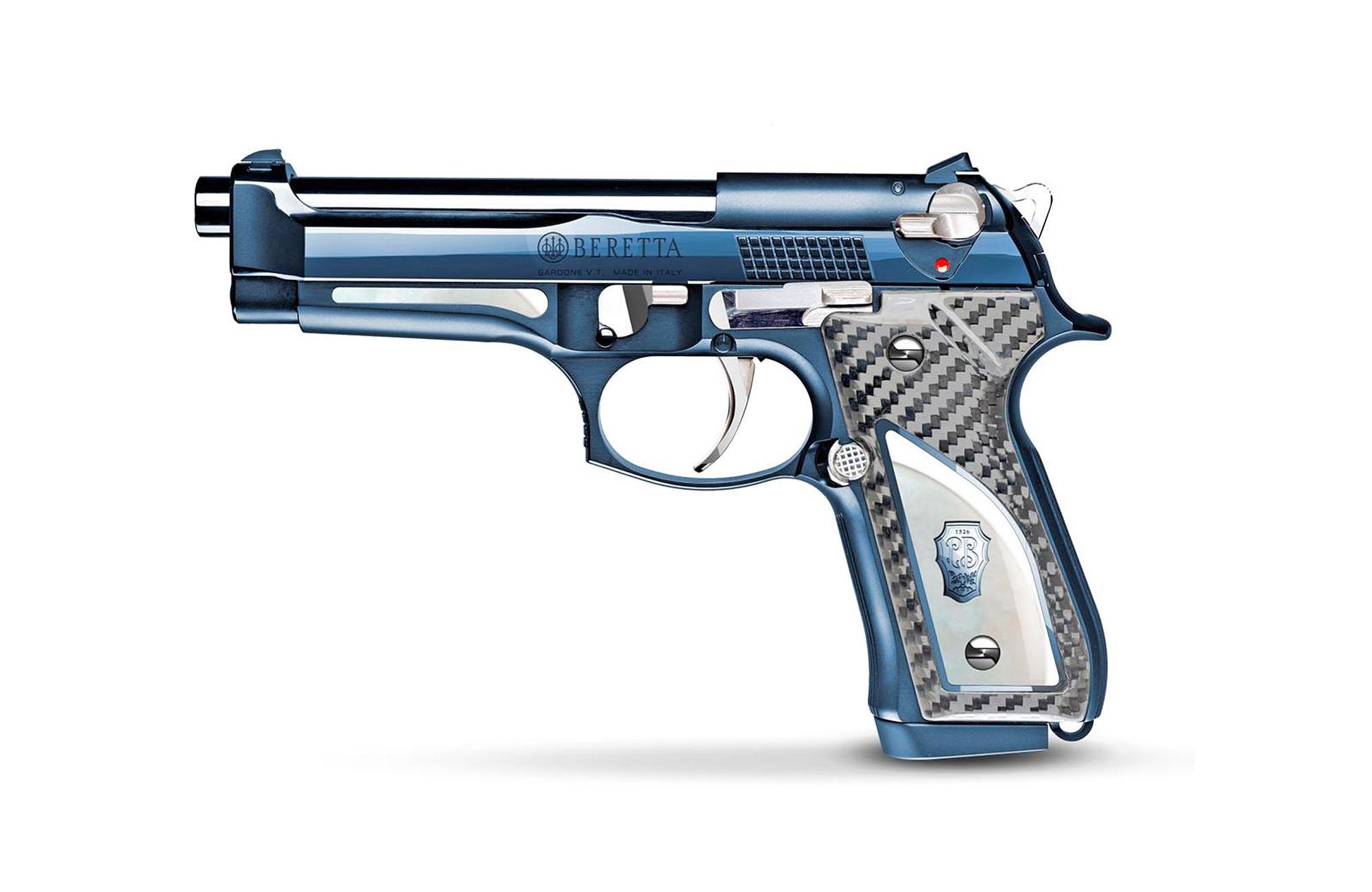 Beretta 92FS Fusion Blue pistol: Italian blue, collector's