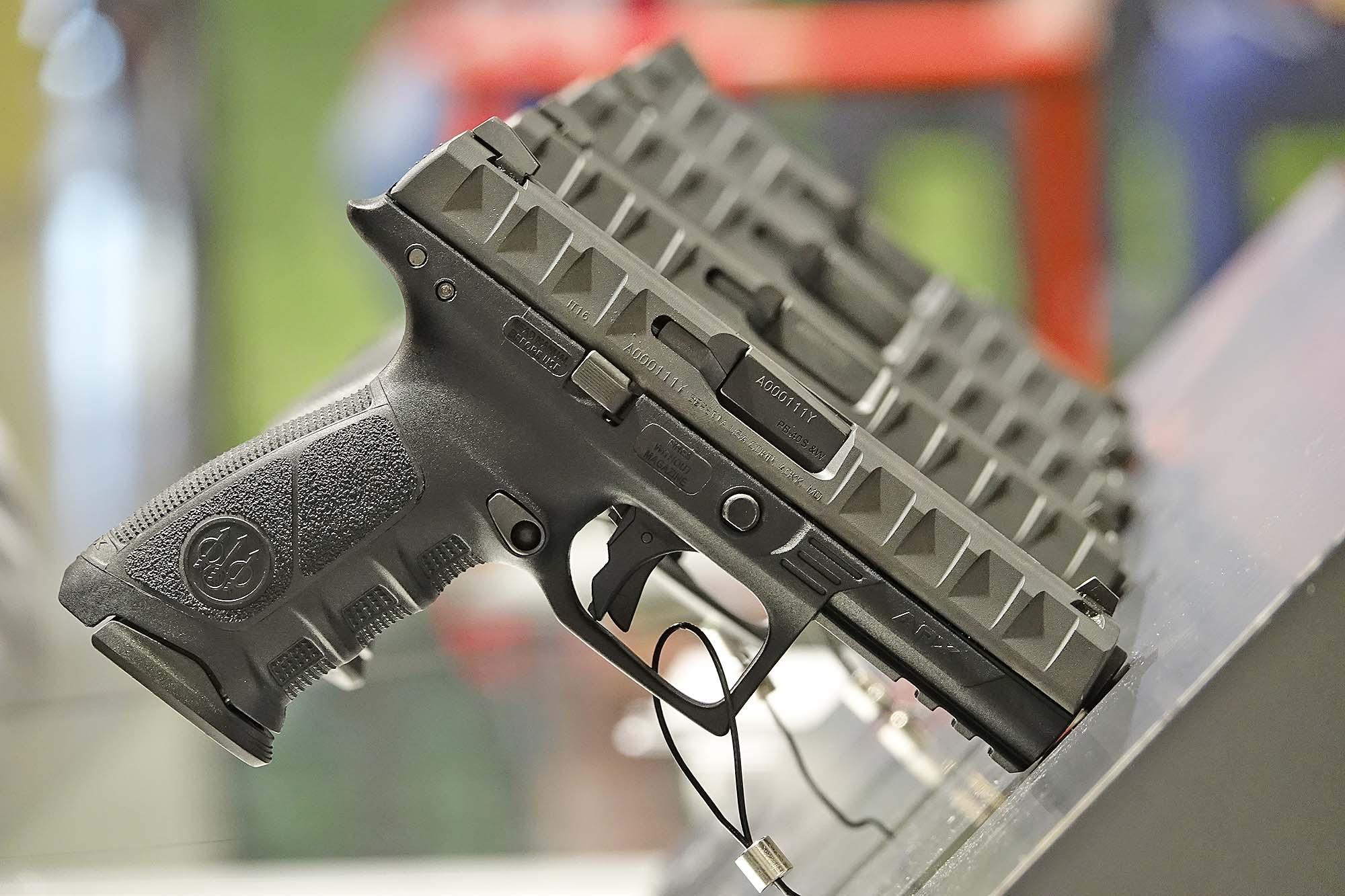 Beretta APX pistol seen at HIT Show 2017   GUNSweek com