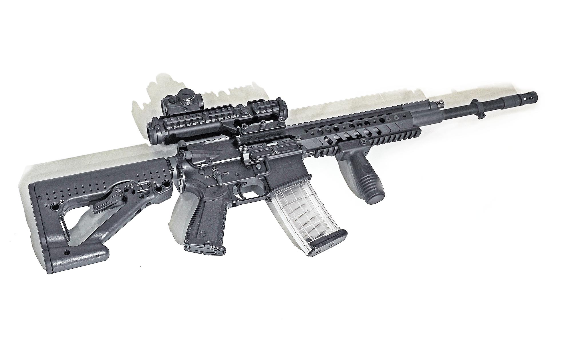 Rheinmetall and Steyr Mannlicher have developed a new RS556 automatic rifle 54