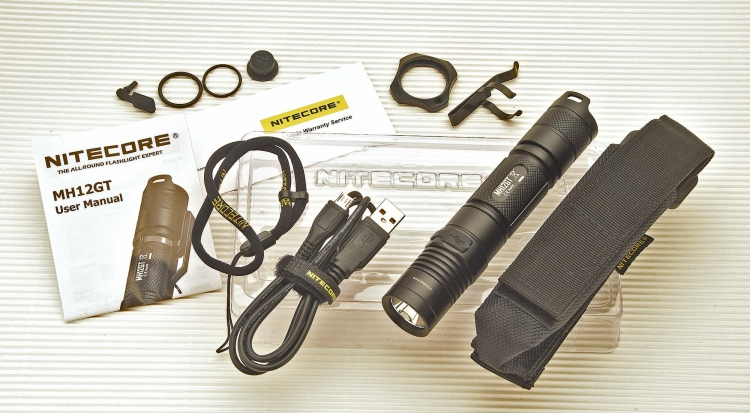 The new Nitecore MH12GT is a tactical flashlight that can be recharged also via a USB cable