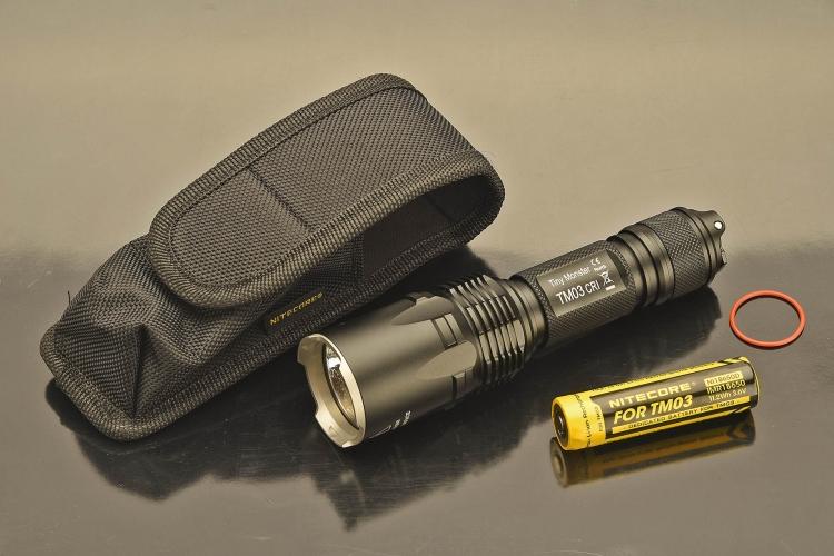 La torcia Nitecore TM03 CRI offre un livello d'emissione luminosa di ben 2600 Lumen