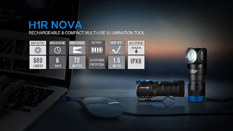 The H1R Nova is one of the many new flashlights launched by Olight for 2017