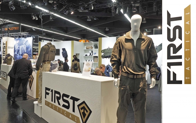 The First Tactical booth at the 2017 IWA expo in Nuremberg (Germany)
