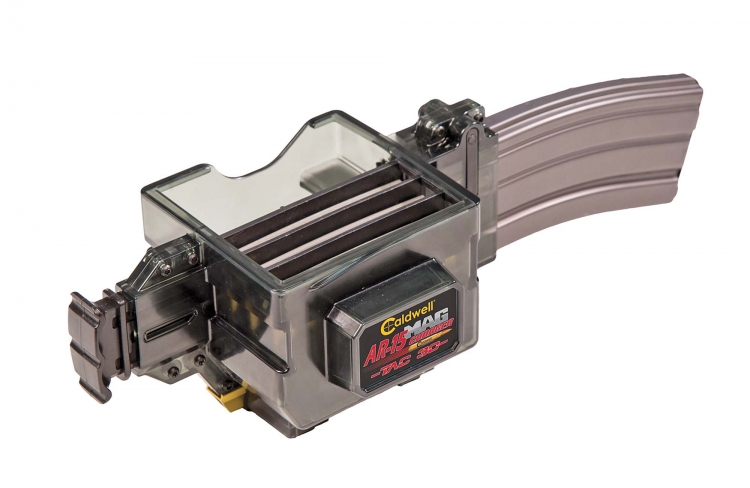 Caldwell's Mag Charger TAC-30 is conceived to load STANAG 4179 compliant magazines