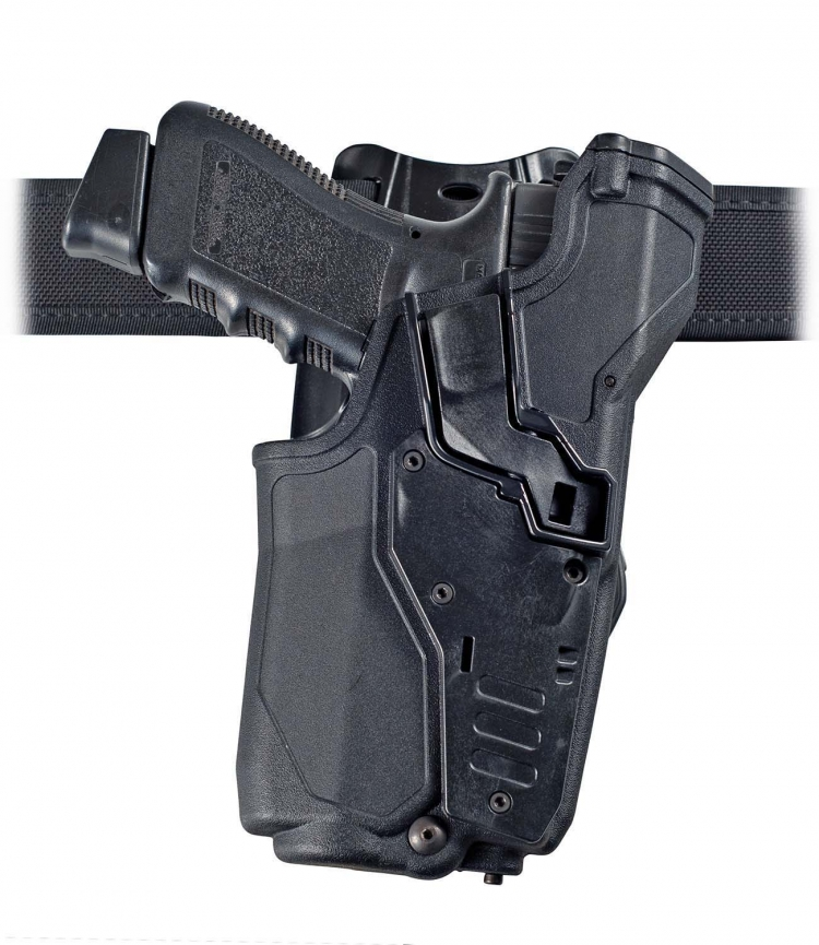 The design of the new Radar CRAB-PRO pistol holster solves the problem of having an holster allowing the safe carry of pistols with tactical-light/laser-sight of different sizes. The carry is secured even with the pistol alone. Looks obvious? it is not.
