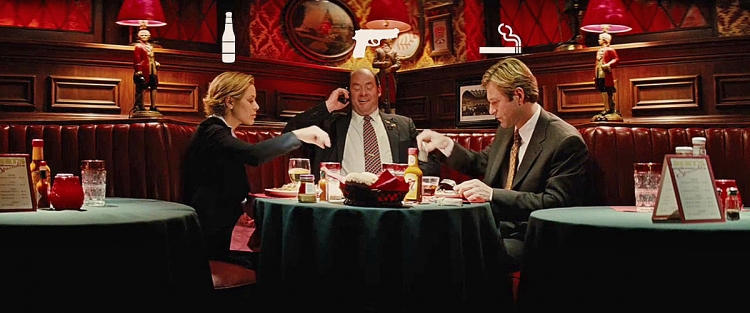 "In the movie ""Thank you for smoking"" (2005), the three ""dangers to society"" – Alcohol, Firearms and Tobacco – were represented by actors Maria Bello, David Koechner and Aaron Eckhart"