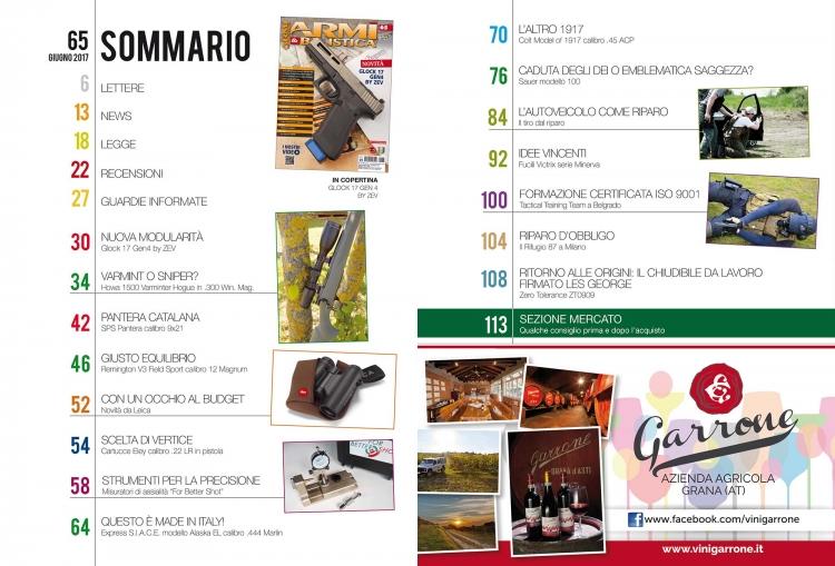 ARMI & BALISTICA numero 65 / giugno 2017 SOMMARIO