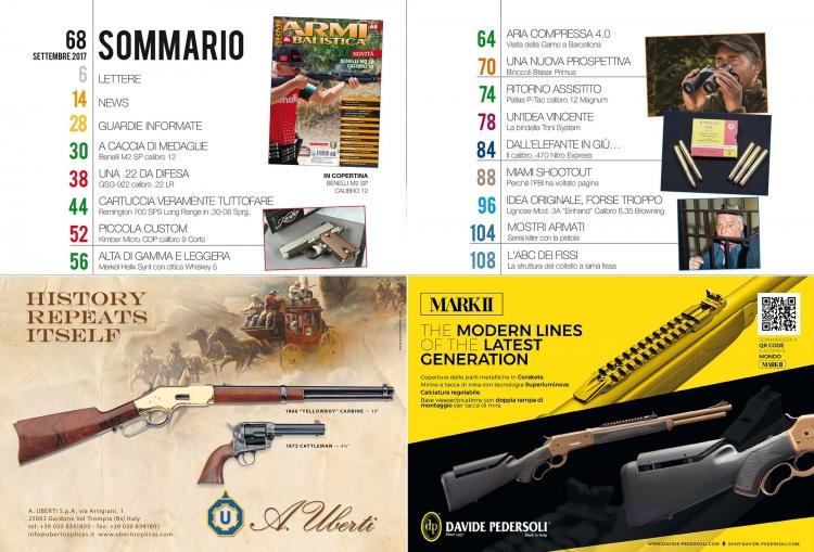 ARMI & BALISTICA numero 68 / settembre 2017 SOMMARIO