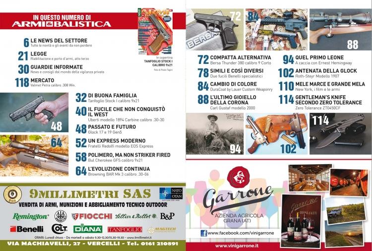 ARMI & BALISTICA numero 69 / Ottobre 2017 SOMMARIO