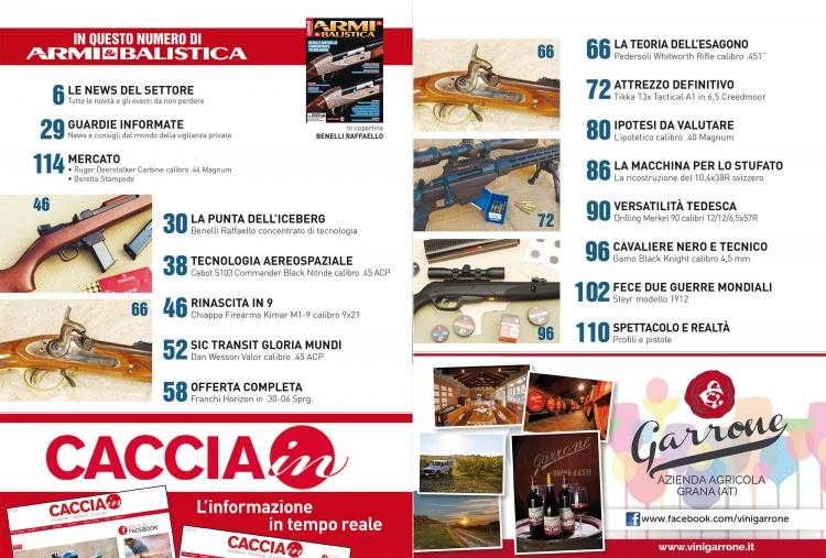 ARMI & BALISTICA numero 70 / Novembre 2017 SOMMARIO