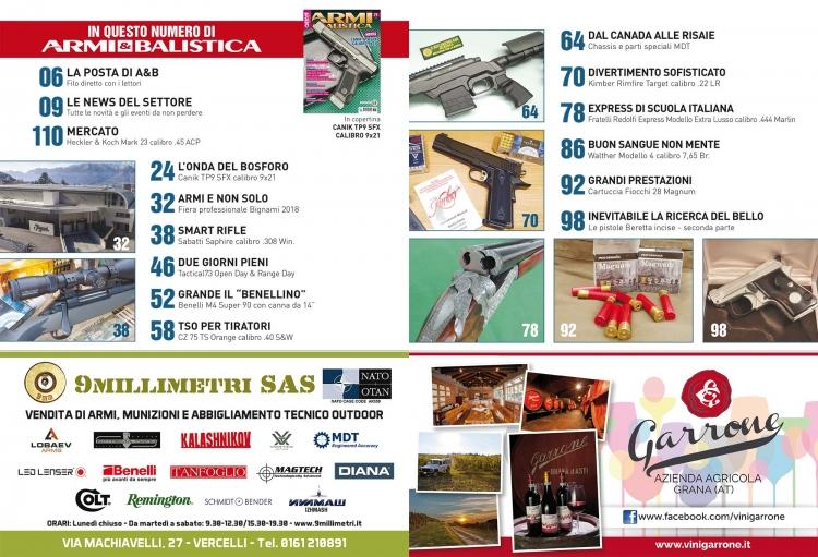 ARMI & BALISTICA numero 77 / giugno 2018 SOMMARIO