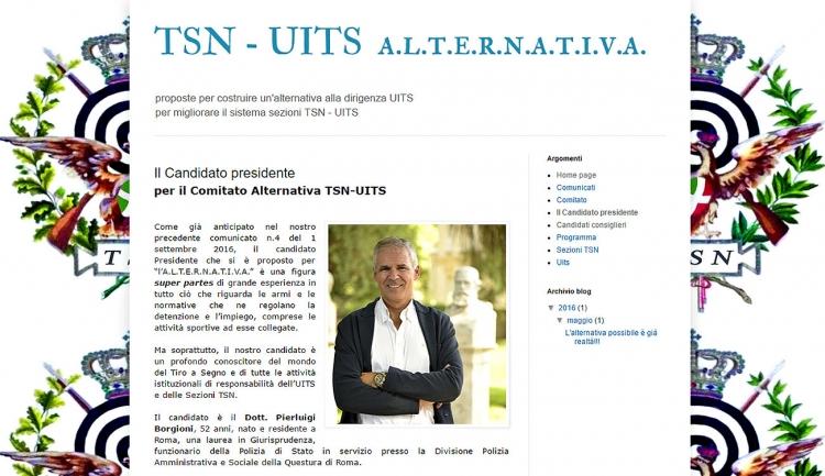 La pagina di presentazione del candidato nel