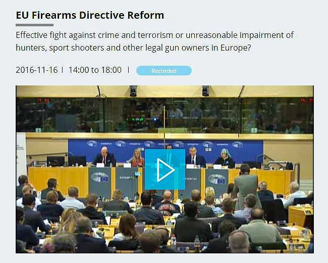 Video - Conference on EU Firearms Directive Reform