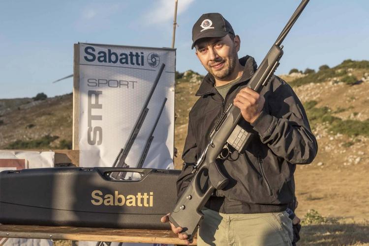 Il tiratore Corrado di Carlo, vincitore del Trofeo Fiocchi-Sabatti 2021