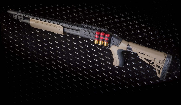 Mossberg has teamed with ATI, the worldwide leader in firearm stocks, forends and accessories, to introduce a highly-specialized factory version of its venerable pump-action – the Mossberg 500 ATI Scorpion