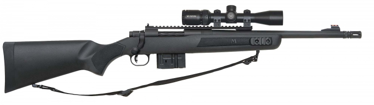 The versatile Scout rifle design features a forward-mounted optic, here with a Vortex Crossfire II Scout 2-7x32mm riflescope