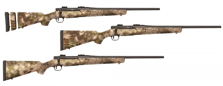 The newest members of the Mossberg Patriot bolt-action family have a modern edge with the latest in concealment, Kryptek Highlander camo