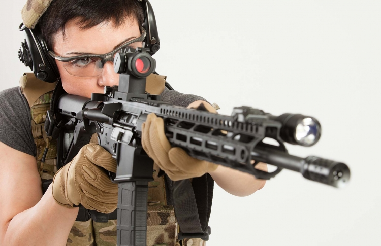 Reknown firearms instructor Tatiana Whitlock is the new brand ambassador for Aimpoint