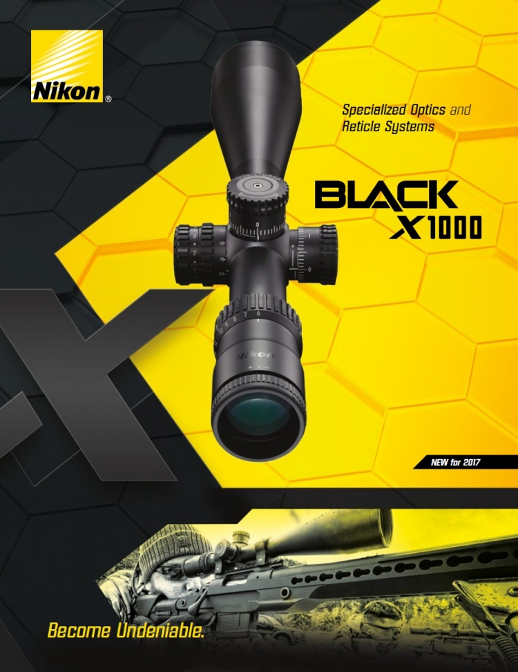 The BLACK series of riflescopes is Nikon's new product line for 2017