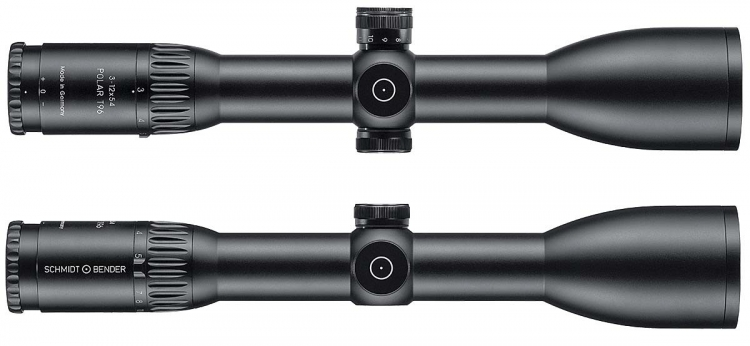 Schmidt & Bender is extending the innovative Polar T96 line by two new target optics, 3-12x54 and 4-16x56