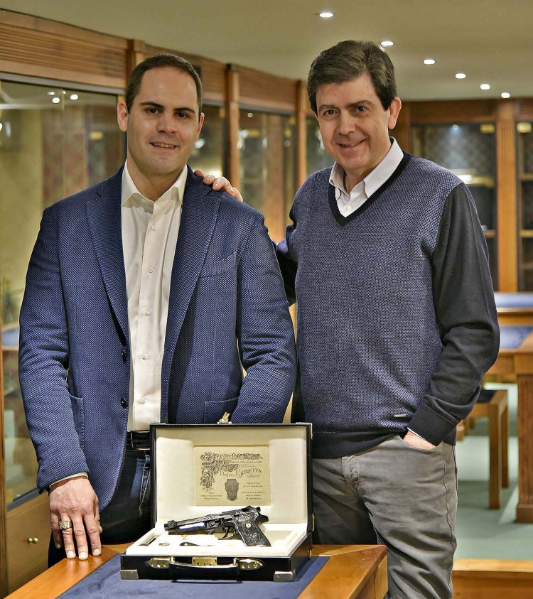 Fabiano Visintini and Paolo Tarterini – co-owner of one of Beretta's main delivery agencies, who was instrumental in the realization of the Beretta 98FS Demon pistol project