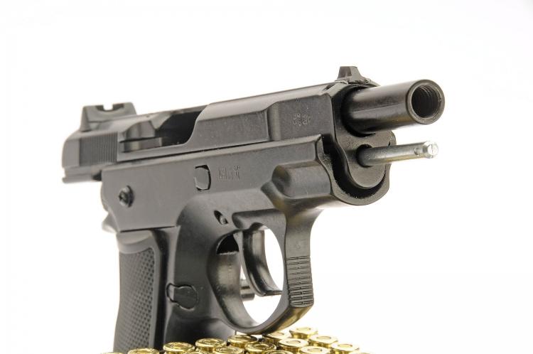 Nera Scacciacani Pistola a Salve BRUNI 315 Cal.8 Top Firing