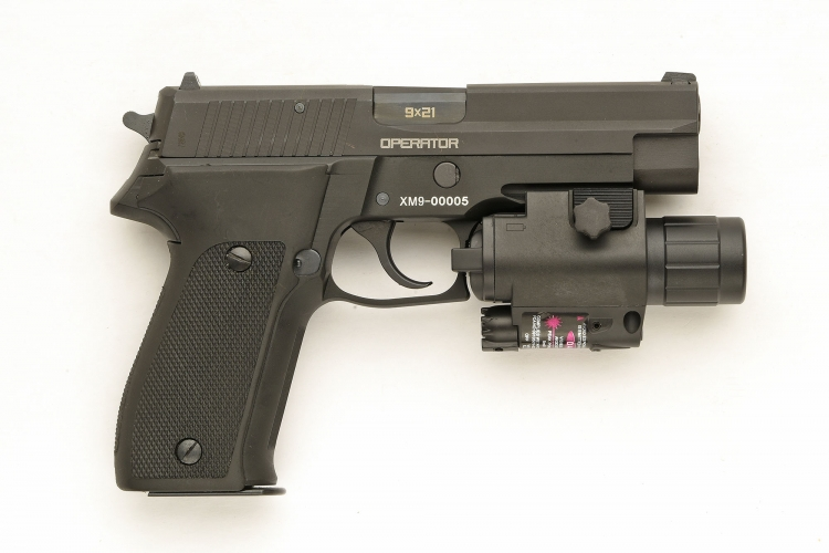 Right side view of the S.D.M. XM9 Operator semi-automatic pistol
