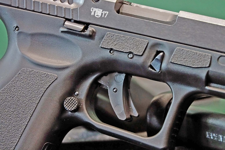 The Vz.15 features ambidextrous controls and a trigger safety