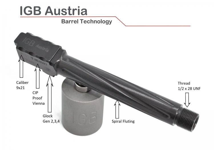Brownells Italia importa le canne IGB Austria, anche personalizzate