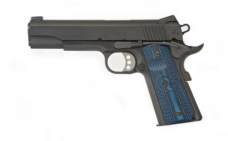 Colt 1911 Competition semiauto pistol, available in 9mm or . 45 ACP calibers
