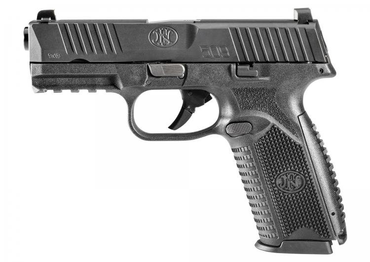 The left side of the FN 509 pistol