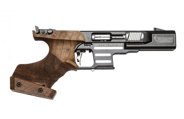 The Pardini SP Rim Fire pistol in .22 Long Rifle caliber