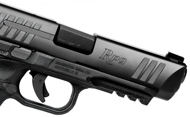The Remington RP9 pistol is balanced for reduction in recoil and muzzle climb