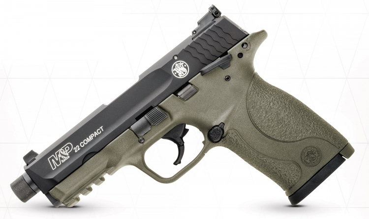 The scaled-down, rimfire M&P-22 Compact is now available in a suppressor-ready, Cerakote Flat Dark Earth variant