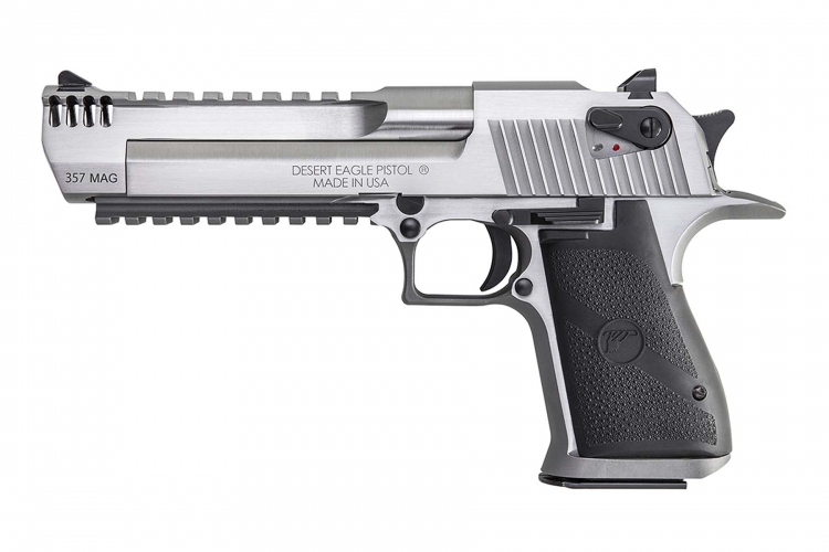 From Magnum Research, the Desert Eagle Pistol Stainless Steel .357 Magnum
