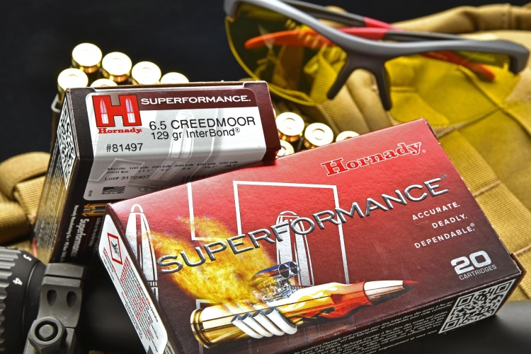 Le Hornady Superformance 6.5 Creedmoor, calibro in cui è camerata l'arma di queste nostre foto