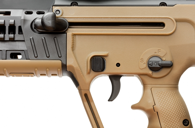 The controls on the IWI X95 semi-automatic rifle: a very practical setup