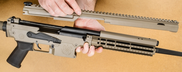 At the heart of a Joshua MK5: AK-type bolt, carrier, and trigger group