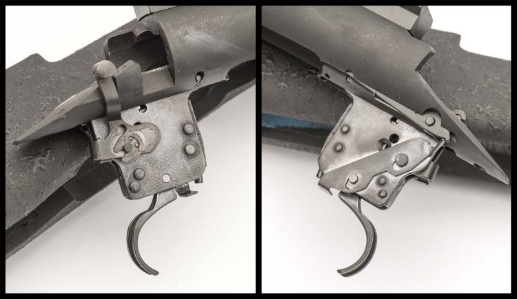 Il pacchetto di scatto montato sul Remington 700 Police 5R è quello standard, che tuttavia consente la regolazione del peso di scatto