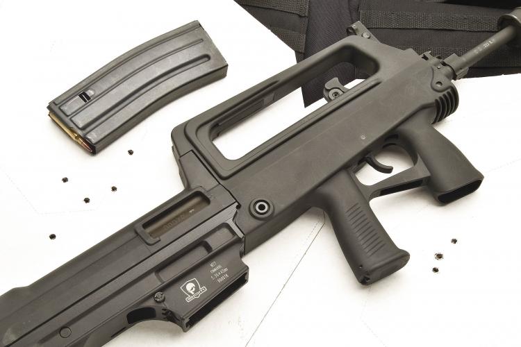 Nell'arma si fa largo uso di polimeri.