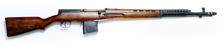 The Molot KO-SVT semi-automatic rifle, seen from the right side