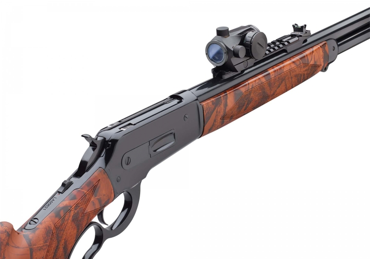 The new Pedersoli Boarbuster Red Dot 86-71 lever action rifle is equipped with a Konus Pro Atomic 2.0 sight, an optical system with two colors and five level pf intensity.