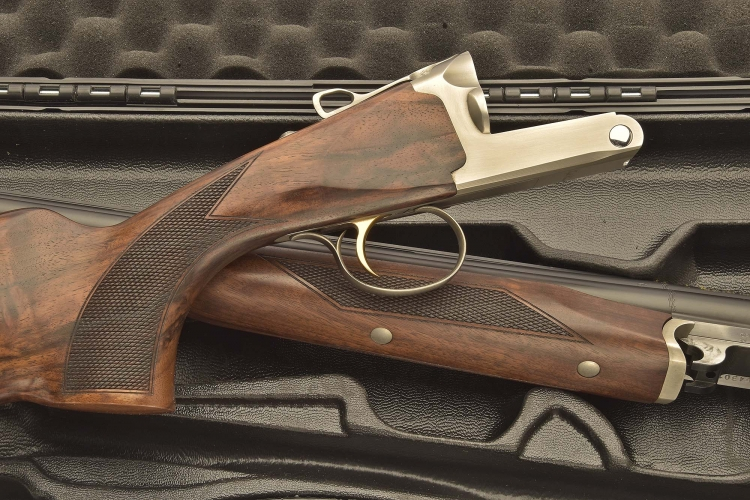 The checkered pistol grip and forend