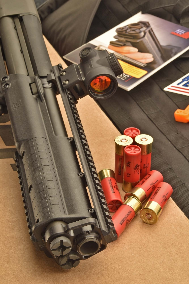 "We test-fired the KSG with 3"" shotshells"