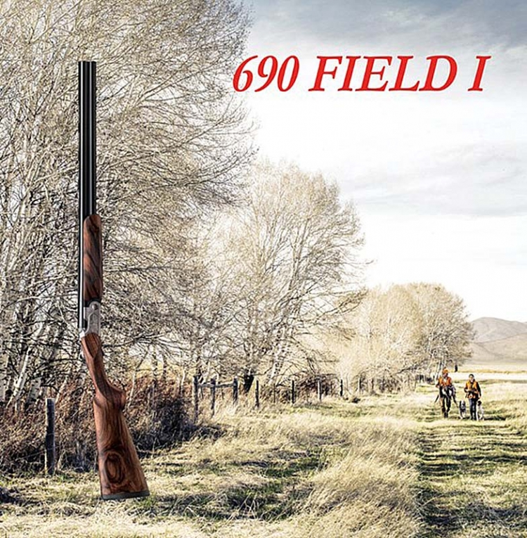 The official promo graphic of the new Beretta 690 Field I Over&Under shotgun