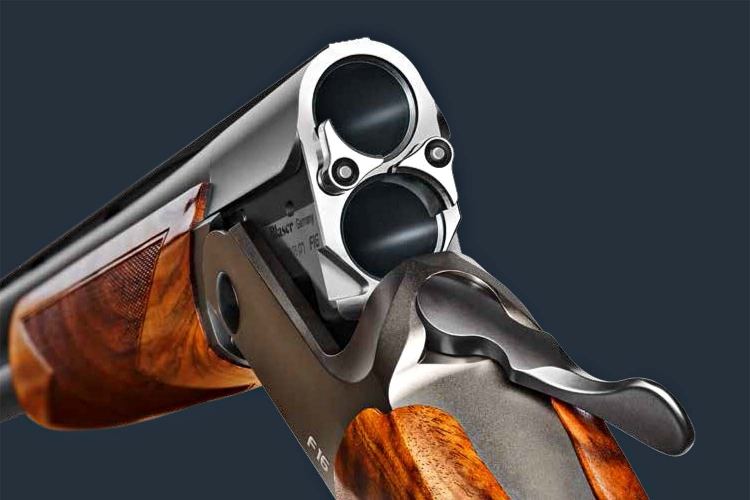 The Blaser F16 shotgun breech