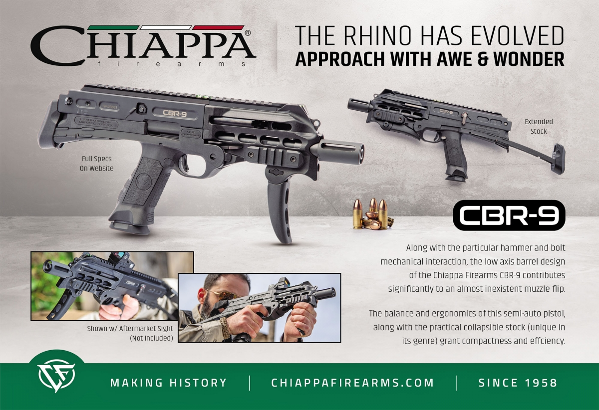 New Chiappa Firearms CBR-9 Black Rhino, will be introduced at IWA 2019