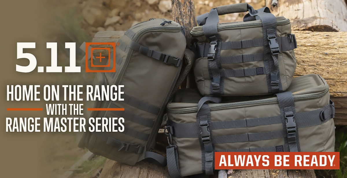 5.11 Range Master series: Qualifier, Duffel and Backpack bags