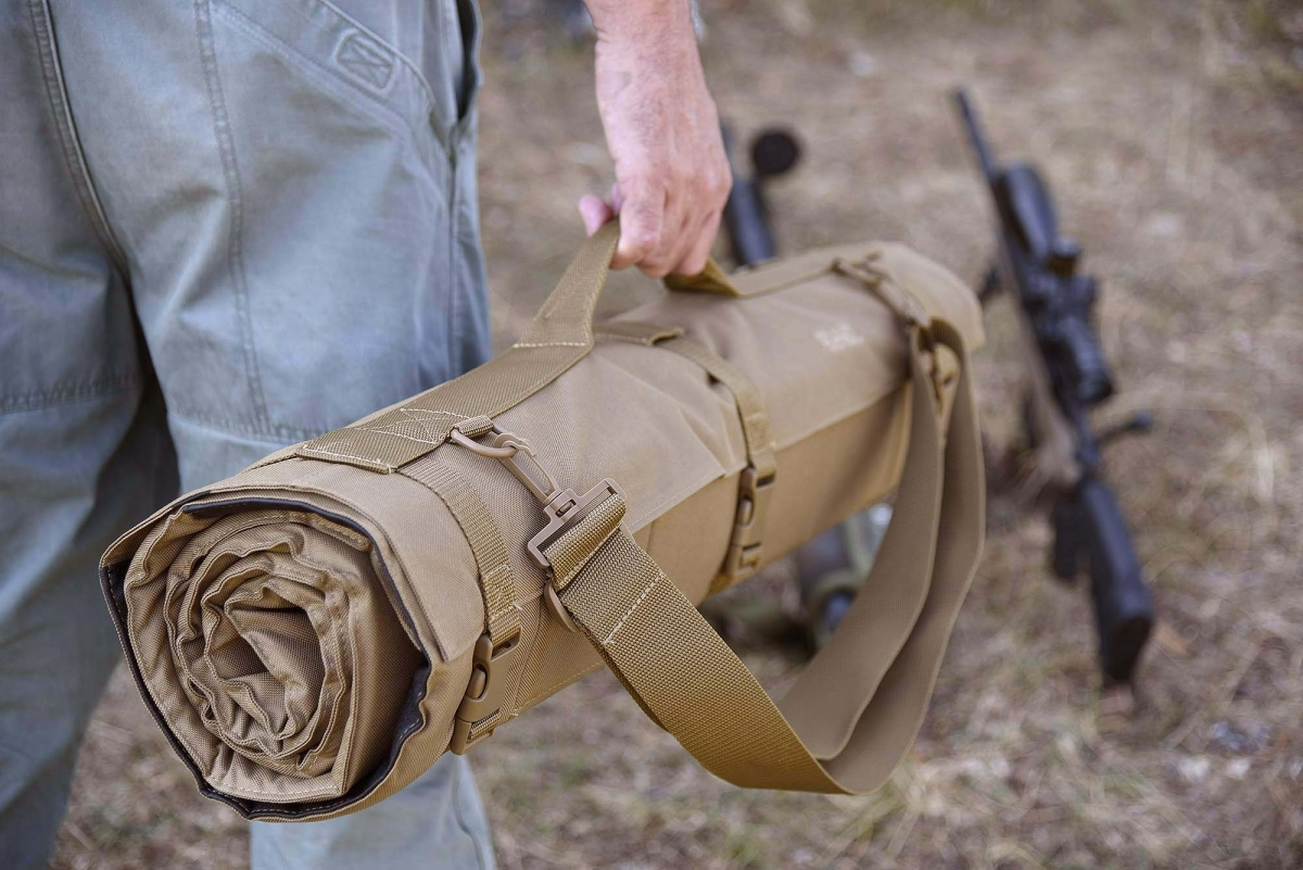 The Bob Allen Tactical Shooting Mat is available for purchase through Brownells